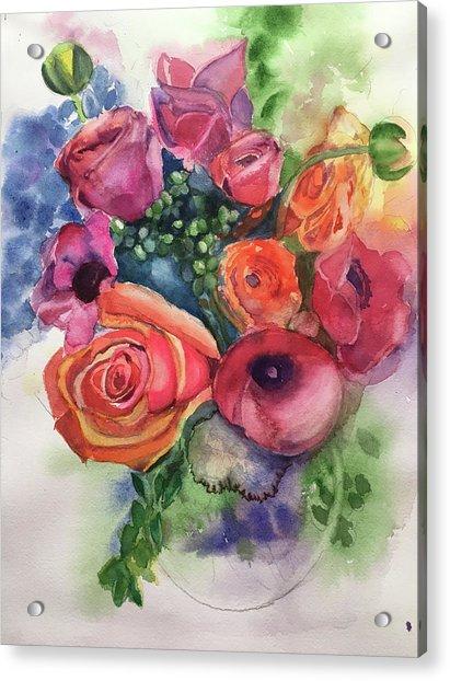 Floral Fantasy Acrylic Print