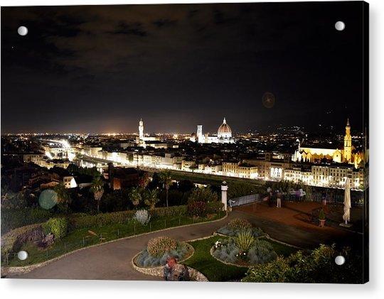 Florence At Night Acrylic Print