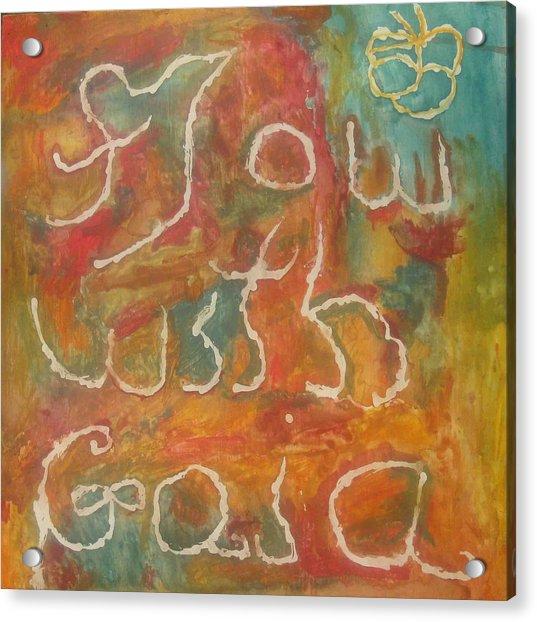Flow With Gaia Acrylic Print