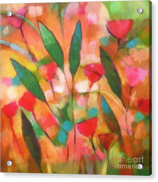 Flowerflow Acrylic Print