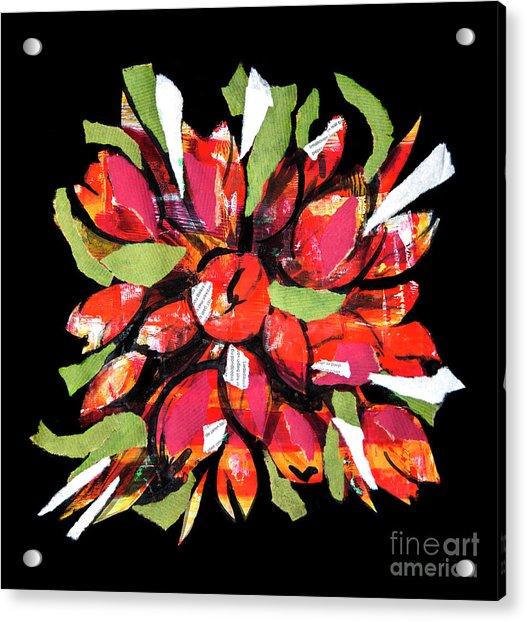 Flowers, Art Collage Acrylic Print