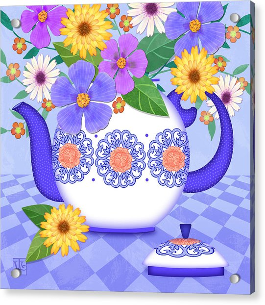 Flowers From My Garden Acrylic Print