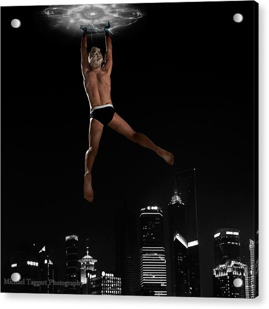 Acrylic Print featuring the photograph Flying Avenger by Michael Taggart