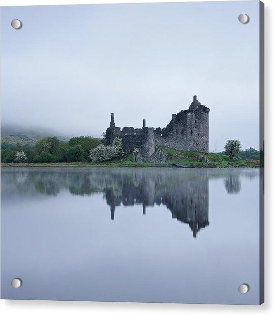 Fog At Kilchurn Castle Acrylic Print