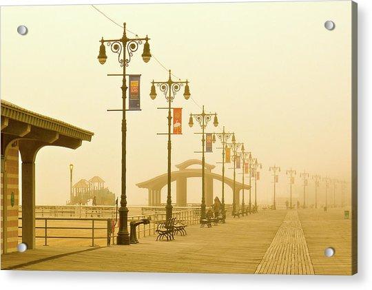 Foggy Boardwalk Acrylic Print