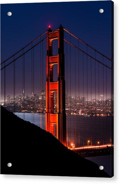 Foggy San Fransisco Acrylic Print