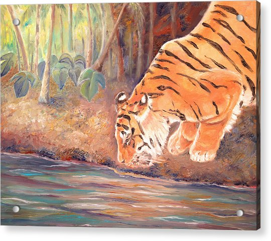 Forest Tiger Acrylic Print