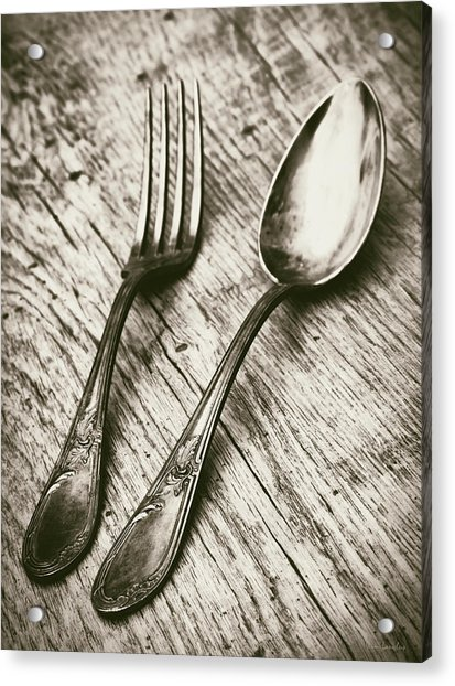 Fork And Spoon Acrylic Print