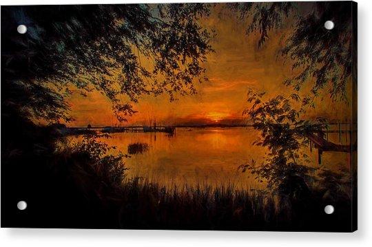 Framed Sunset Acrylic Print