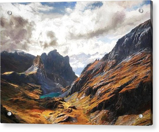 French Alps Acrylic Print