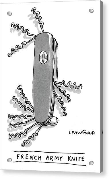 French Army Knife Acrylic Print
