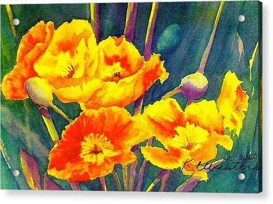French Poppies Acrylic Print by KC Winters