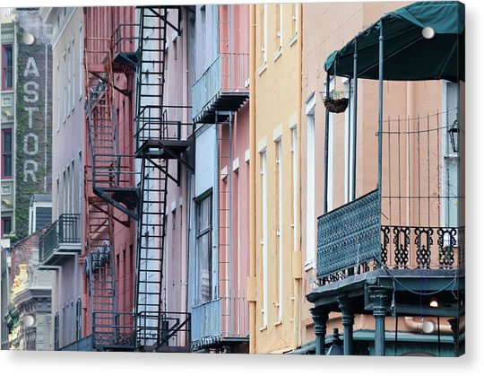 French Quarter Colors Acrylic Print