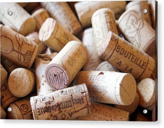 French Wine Corks Acrylic Print