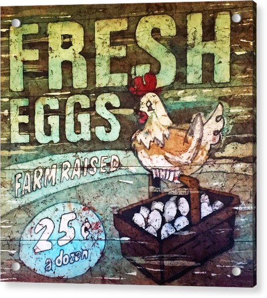 Fresh Eggs Acrylic Print