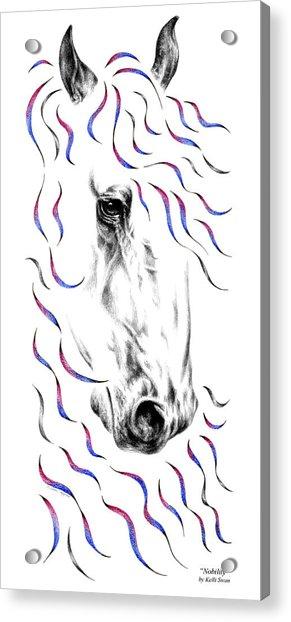 Friesian Horse Nobility Acrylic Print