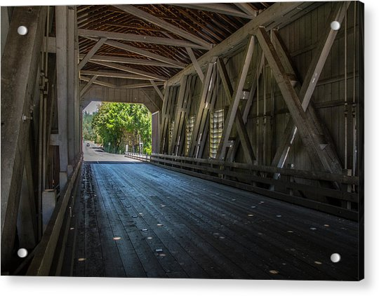 From The Inside Looking Out - Shimanek Bridge Acrylic Print