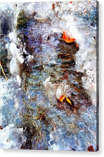 Frozen Bank  Acrylic Print