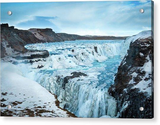 Frozen Gullfoss Acrylic Print