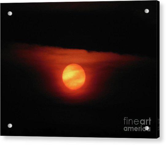 Full Harvest Moon Acrylic Print