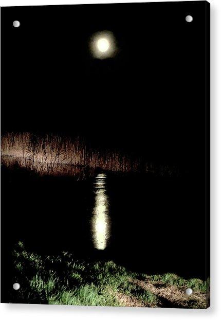 Full Moon Over Piermont Creek Acrylic Print