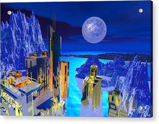 Futuristic City Acrylic Print