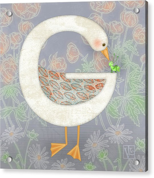 G Is For Goose And Grasshopper Acrylic Print