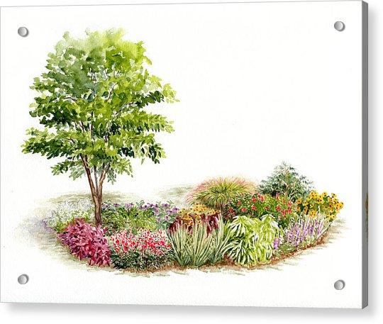 Garden Fresh Watercolor Painting Acrylic Print
