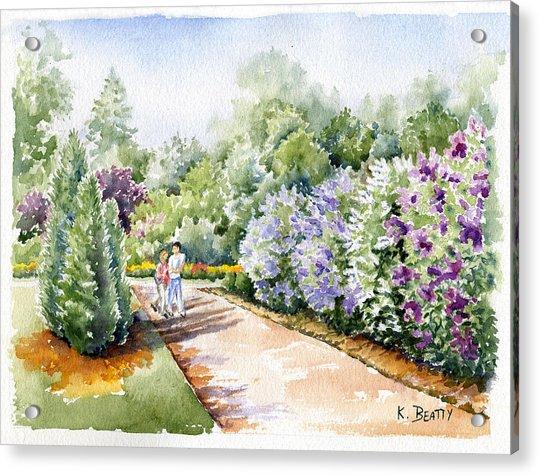 Garden Lilacs Acrylic Print