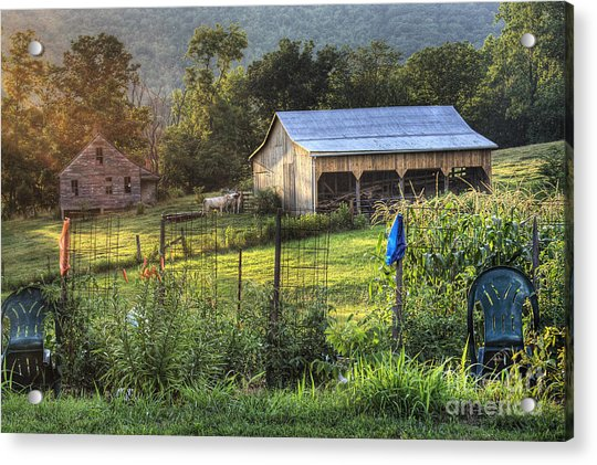 Garden View Acrylic Print