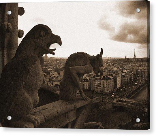 Gargoyles Over Paris Acrylic Print