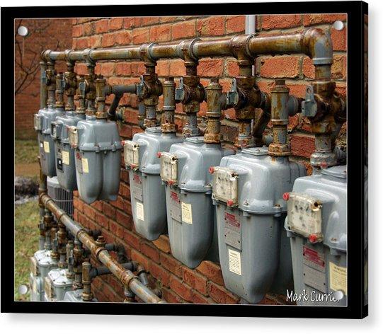 Gas Meters Acrylic Print