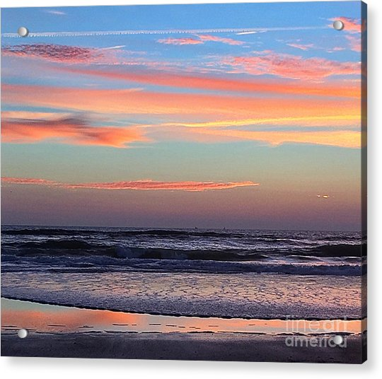 Gator Sunrise 10.31.15 Acrylic Print