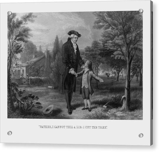 George Washington And The Cherry Tree Acrylic Print