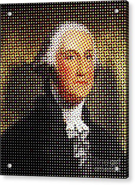 George Washington In Dots  Acrylic Print