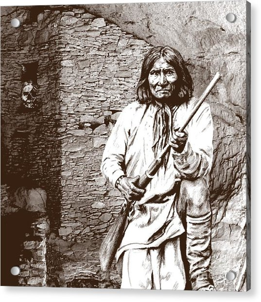 Geronimo's Skull Acrylic Print