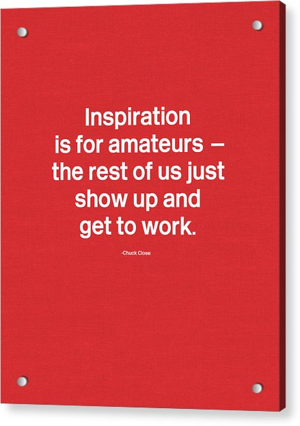 Get To Work- Art By Linda Woods Acrylic Print