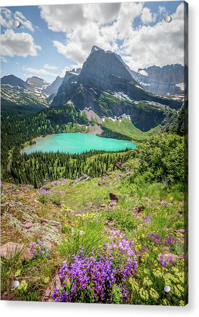 Ginnell Lake Overlook / Glacier National Park  Acrylic Print