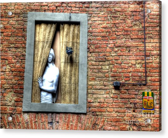 Girl At The Window Acrylic Print by Clint Hudson