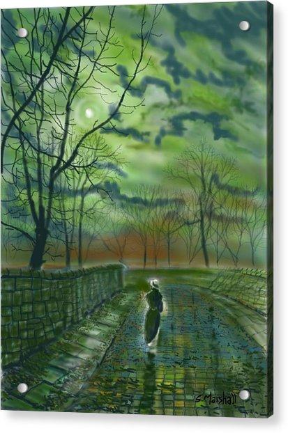 Girl Bymoonlight Acrylic Print