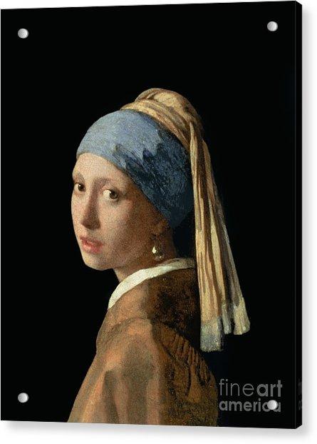 Girl With A Pearl Earring Acrylic Print