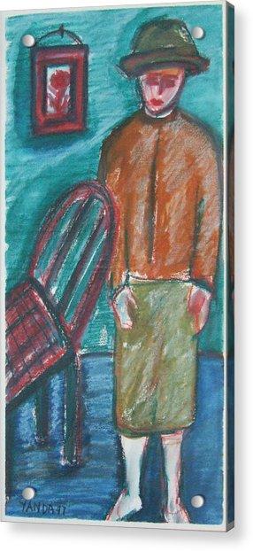 Girl With Chair Acrylic Print