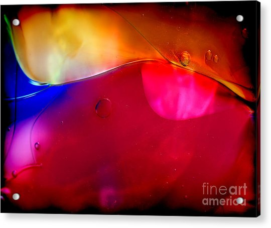 Glass Paint Abstract Dark Acrylic Print