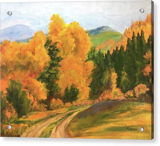 Glorious Fall Colors In Rico Acrylic Print