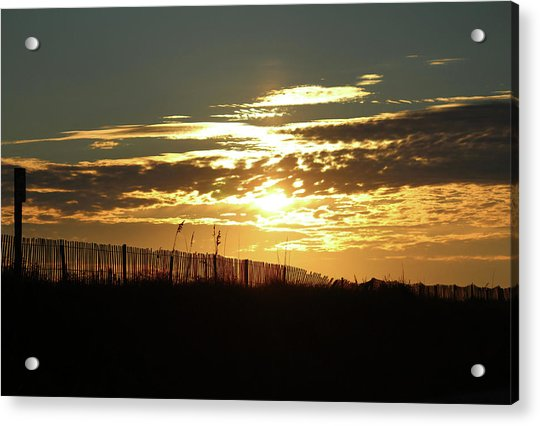 Acrylic Print featuring the photograph Glorious Sunset by Cynthia Guinn