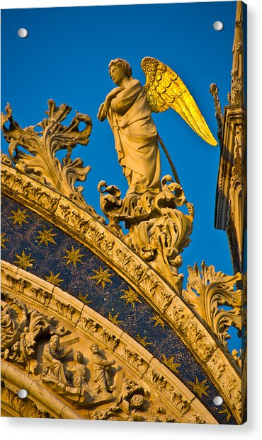Golden Angel Acrylic Print