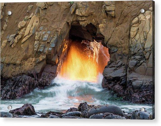 Big Sur - Pfeiffer Beach - Golden Door Acrylic Print