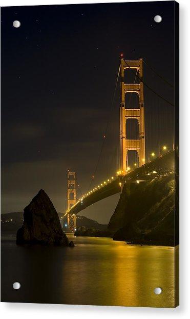 Golden Gate Bridge At Night Acrylic Print