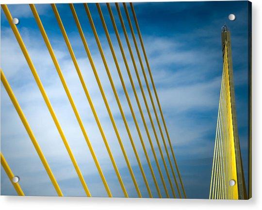 Golden Glow Of Tampa Acrylic Print