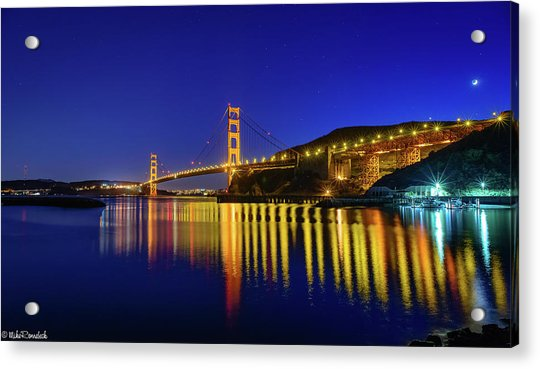 Golden Reflections Acrylic Print